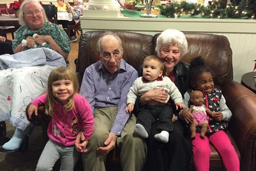 Curt, Lila, and Grandkids